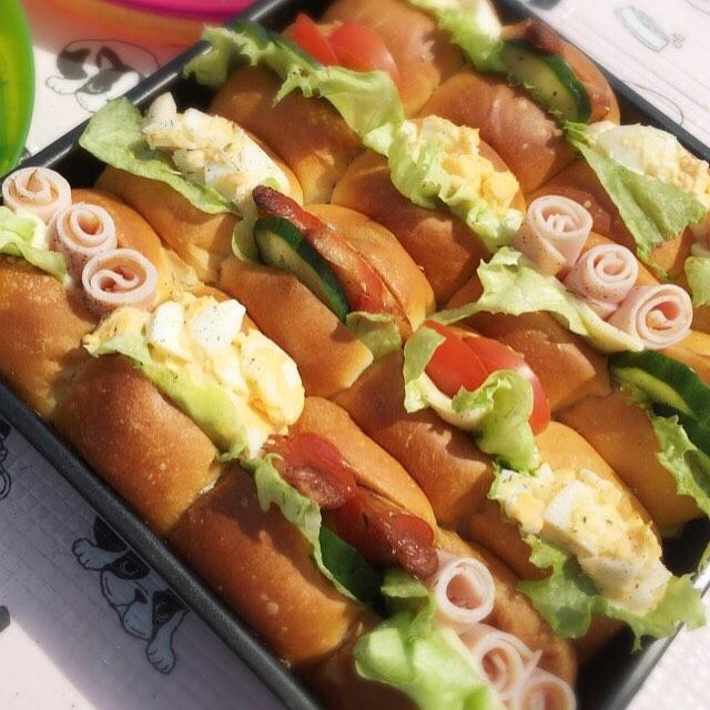 ピクニックのお弁当の詰め方☆パン2