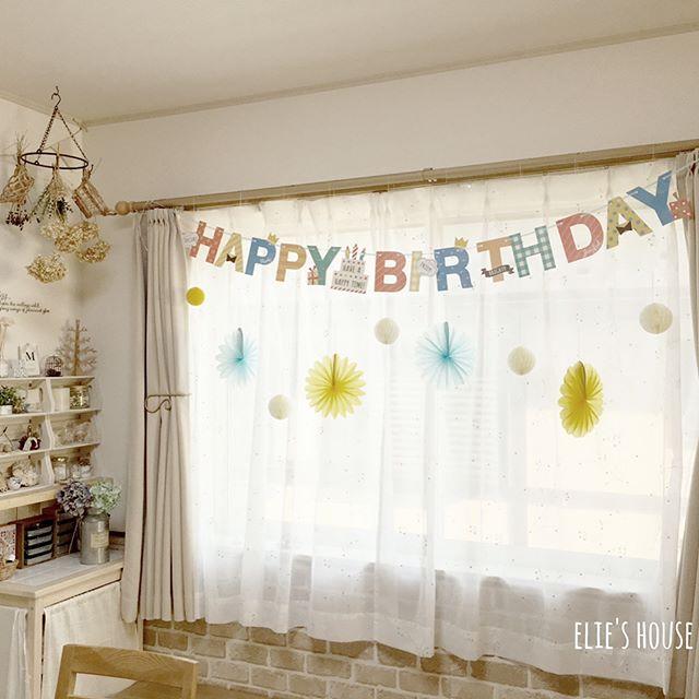 1歳お誕生日の飾り付け13