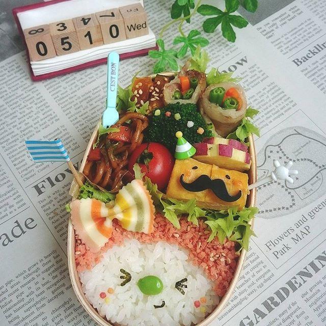 かわいいお弁当に♪女の子鮭丼