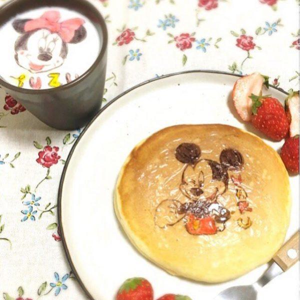 楽しい朝食♪オブアートホットケーキ
