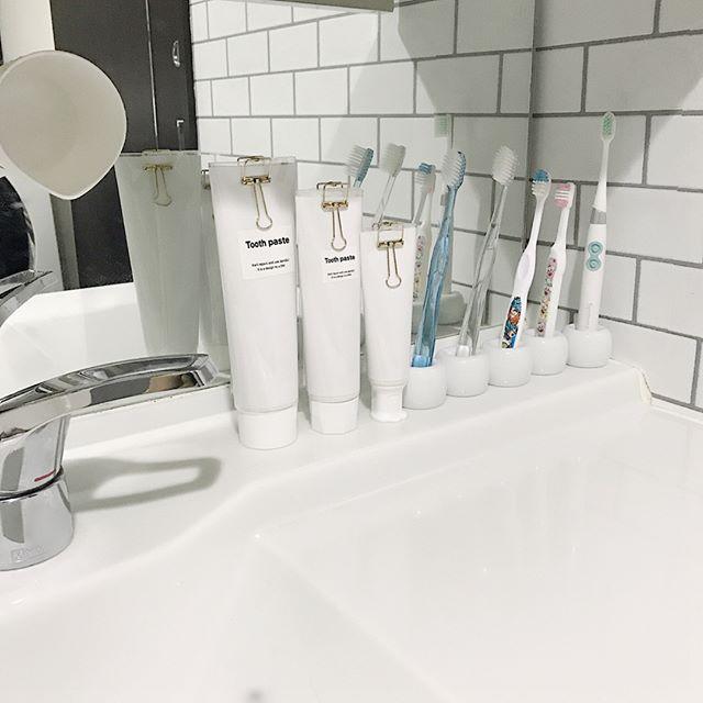 歯ブラシの収納アイディア7