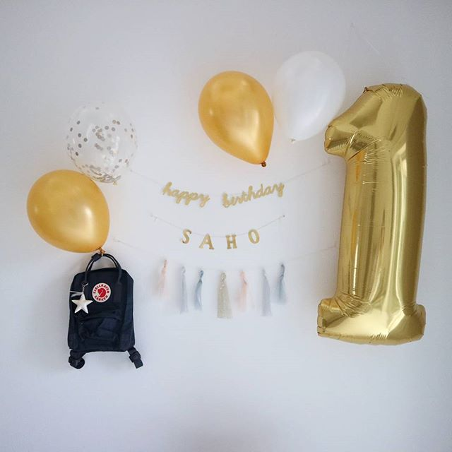 1歳お誕生日の飾り付け5