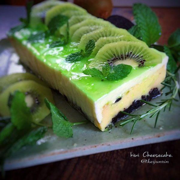 甘酸っぱくて美味しい!キウイチーズケーキ