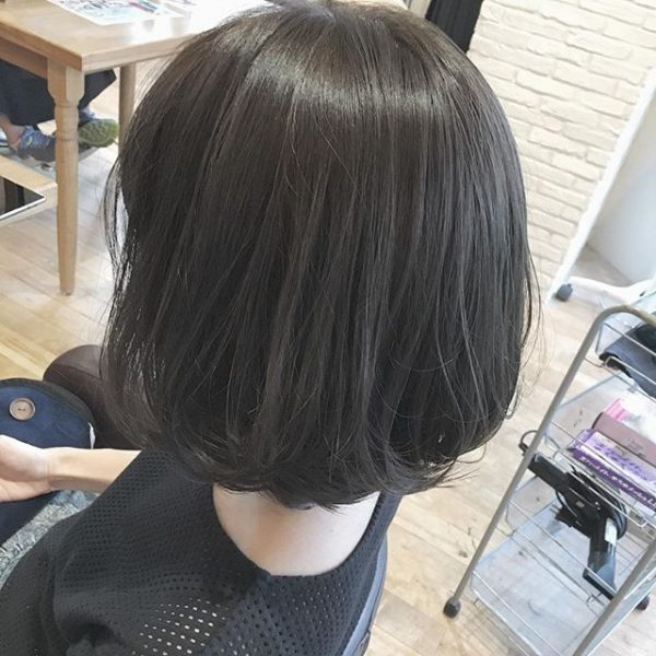 色黒女性(ブルベ)×地毛に近い黒髪