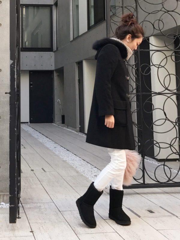 iena 黒ムートンブーツ