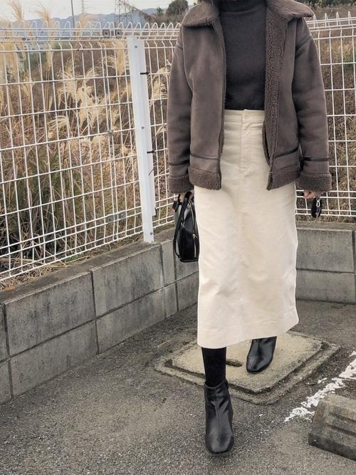 ユニクロコーデュロイスカート