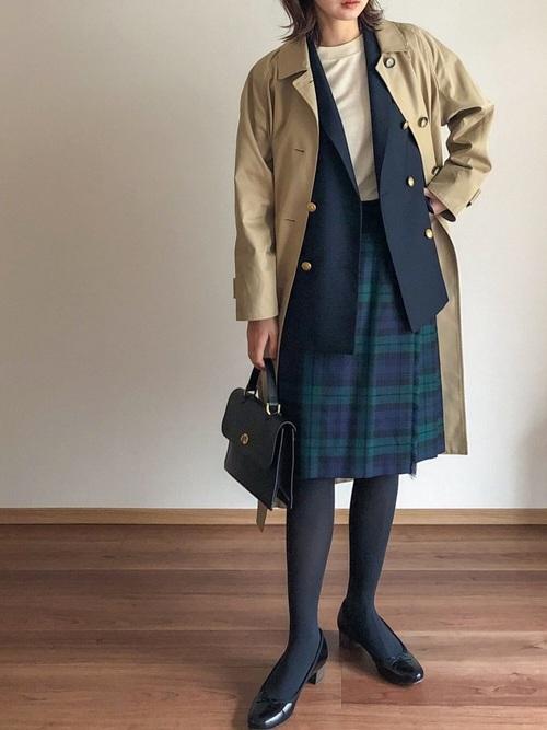 [ABBEY MARKET] O'Neil of Dublin ひざ下 66cm 100% ウーステッドウール キルトスカート