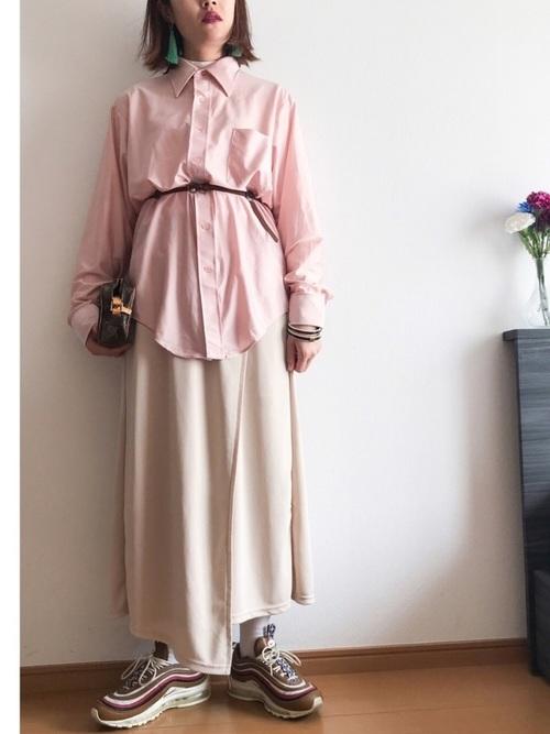 エアマックス97×ロングラップスカート