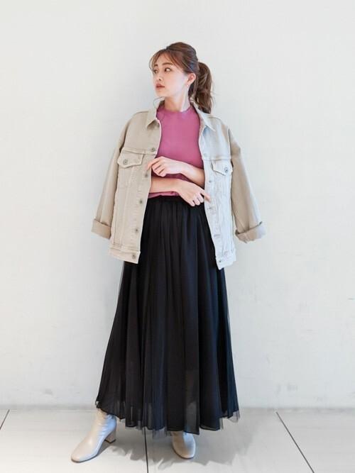 [GALLARDAGALANTE] チュールロングギャザースカート