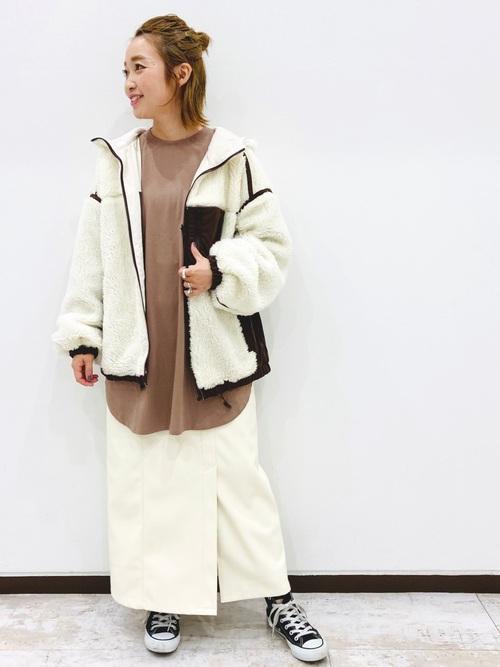 [PAGEBOY] エコレザーロングナロースカート