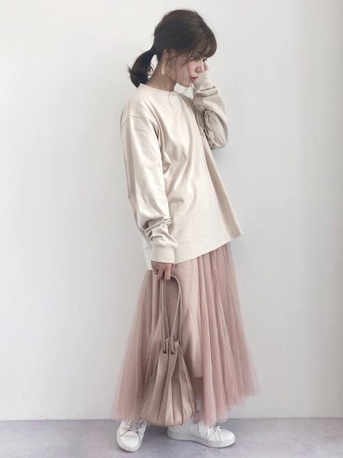 [koe] チュールロングスカート*