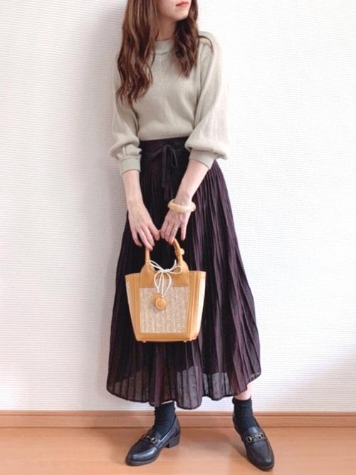 ブラウンスカート2