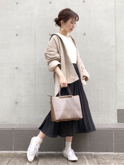 シャツ×スカートの30代プチプラコーデ