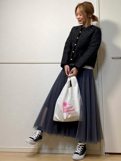 [Bonjour Sagan] 【ZOZO限定】サキシマamp「チュールスカート」
