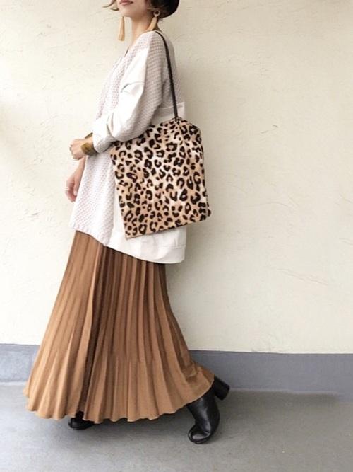 ブラウンスカート1