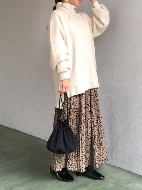 しまむらレオパード柄スカート