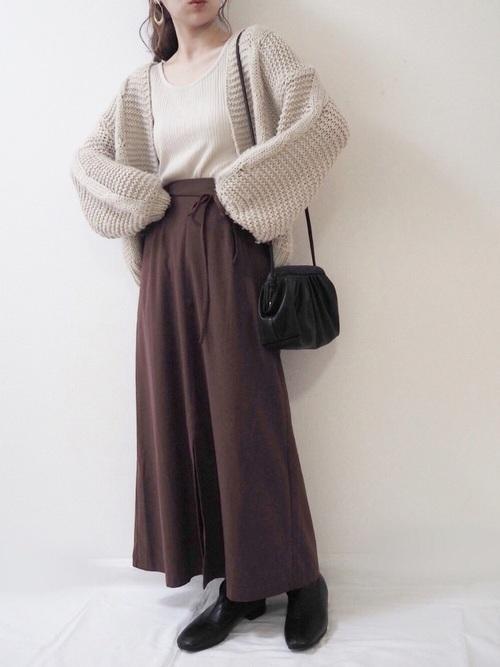しまむら茶色スカート