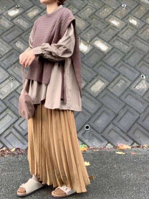GUプリーツスカート