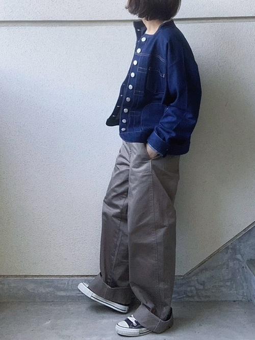 Gジャン×ワイドパンツの冬プチプラコーデ