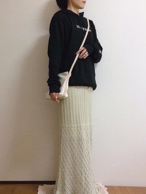 GUニットスカート