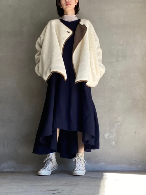 reversible boa jacket(リバーシブルボアジャケット)