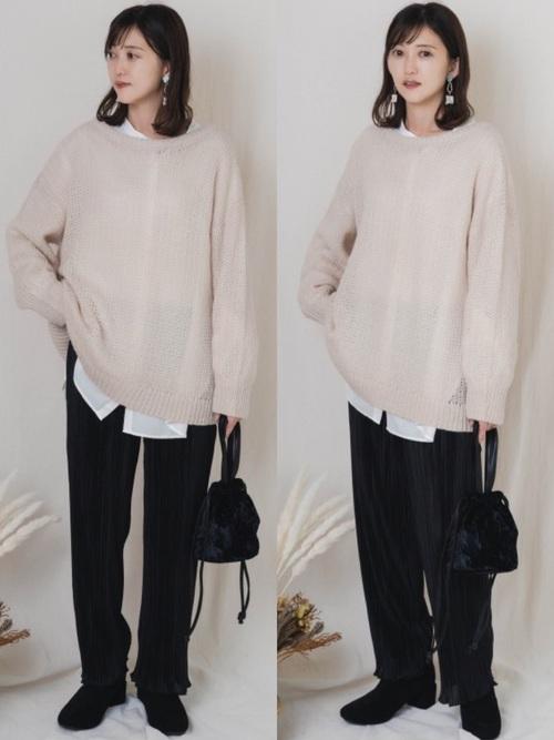 GUのオーバーサイズセーター