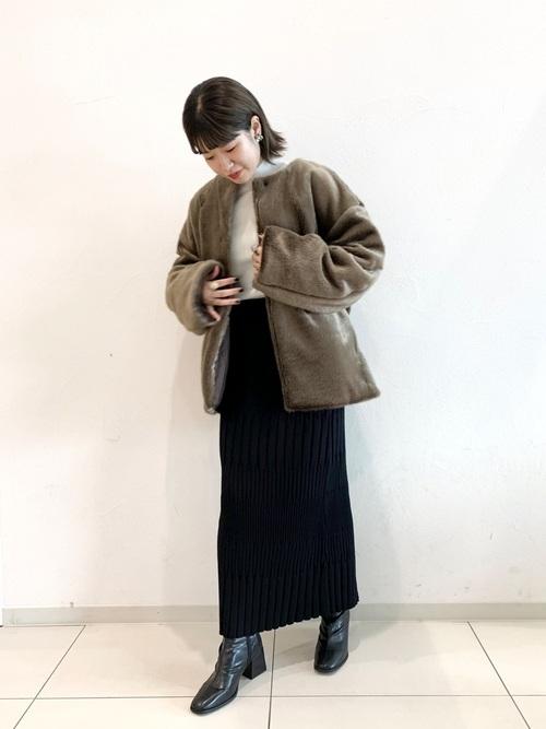 ファーブルゾン×スカート