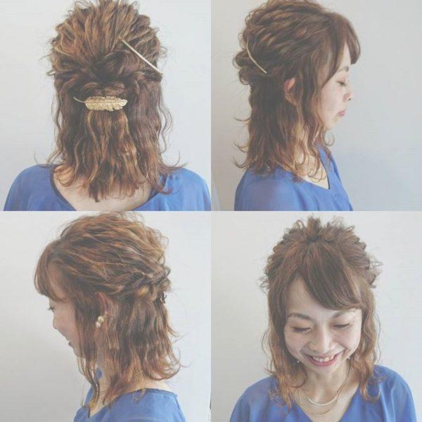簡単♪仕事の日のまとめ髪《ガーリッシュ系》