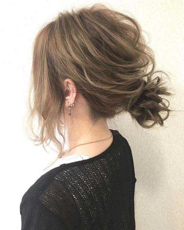 簡単♪仕事の日のまとめ髪《フェミニン系》2