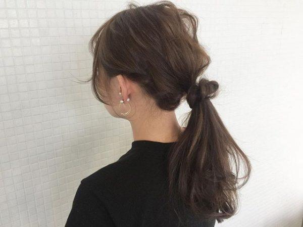 簡単♪仕事の日のまとめ髪《シンプル系》3