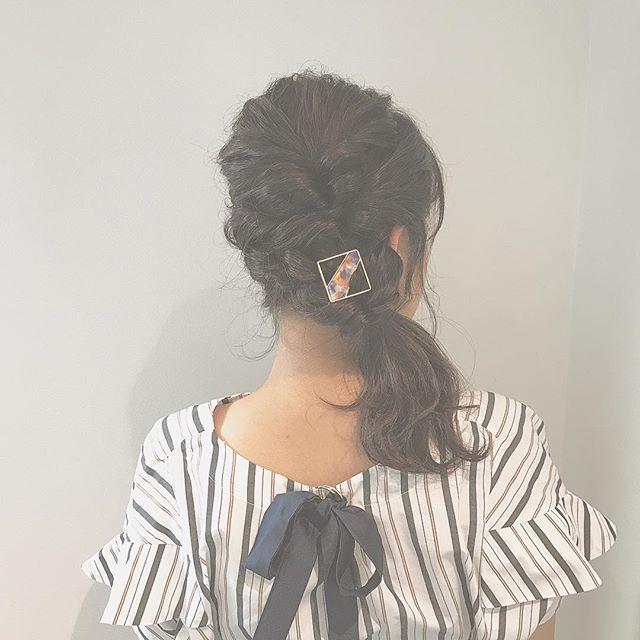 ミディアム×作り込んだまとめ髪