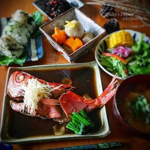冬の和食レシピ!金目鯛の煮付け
