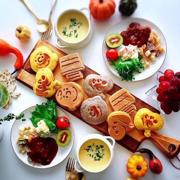 素敵な朝食セット!スヌーピーホットケーキ