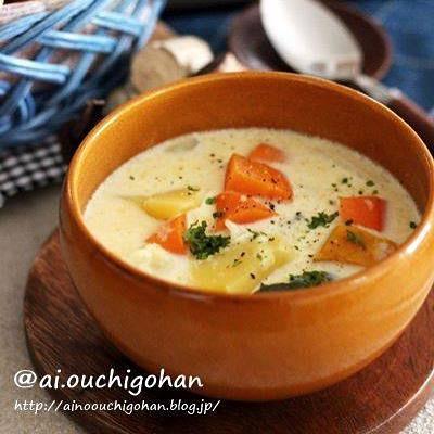 人気レシピ!野菜たっぷりシチューのスープ