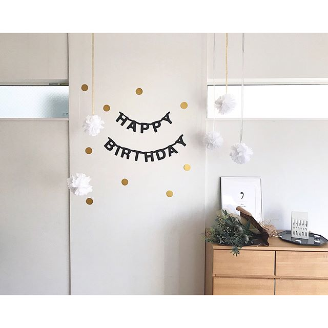 1歳お誕生日の飾り付け15