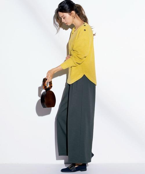 [Ranan] 裏起毛ロングフレアガウチョパンツ1
