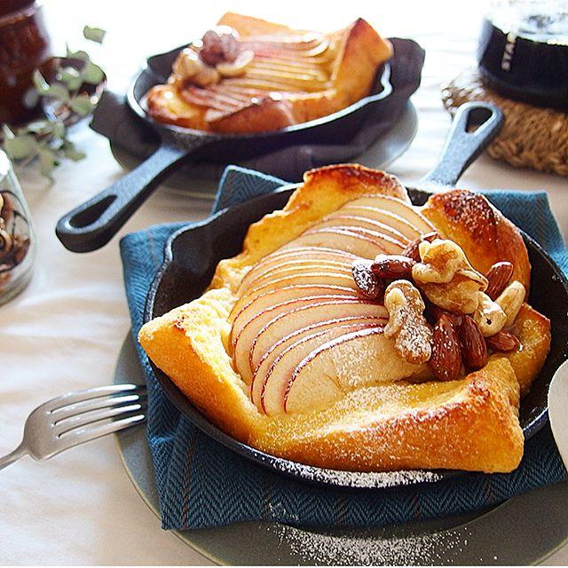 りんごとハニーナッツのフレンチトースト