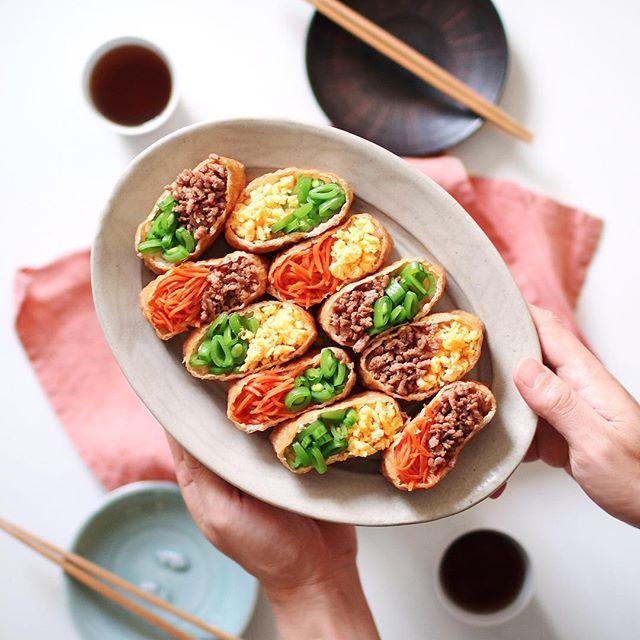 華やかに見えるそぼろいなり寿司