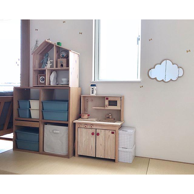子供部屋にナチュラルな和室収納