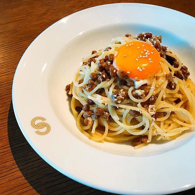 和風の美味しいレシピ!納豆パスタ