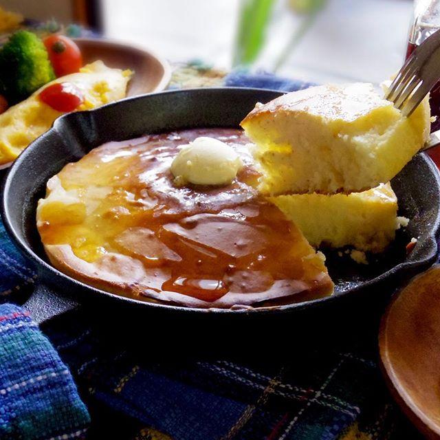 甘〜い朝ごはん♪みんな大好き定番ホットケーキ!