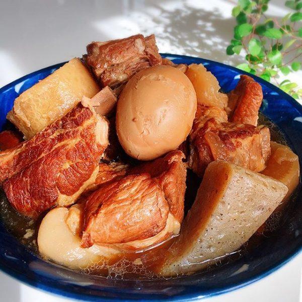 ボリューム満点和食!スペアリブの角煮風煮込み