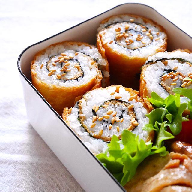 これはおしゃれ。くるくるいなり寿司