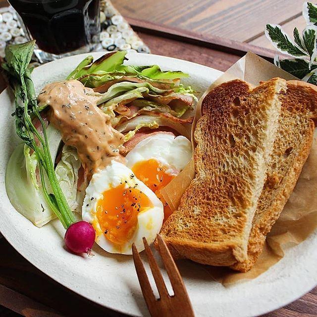 キャベツとベーコンで!お腹いっぱい朝ごはん