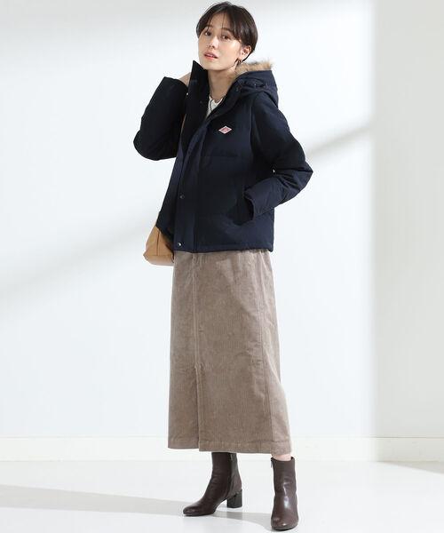 ショートヘアに似合う冬の服装|スカート8