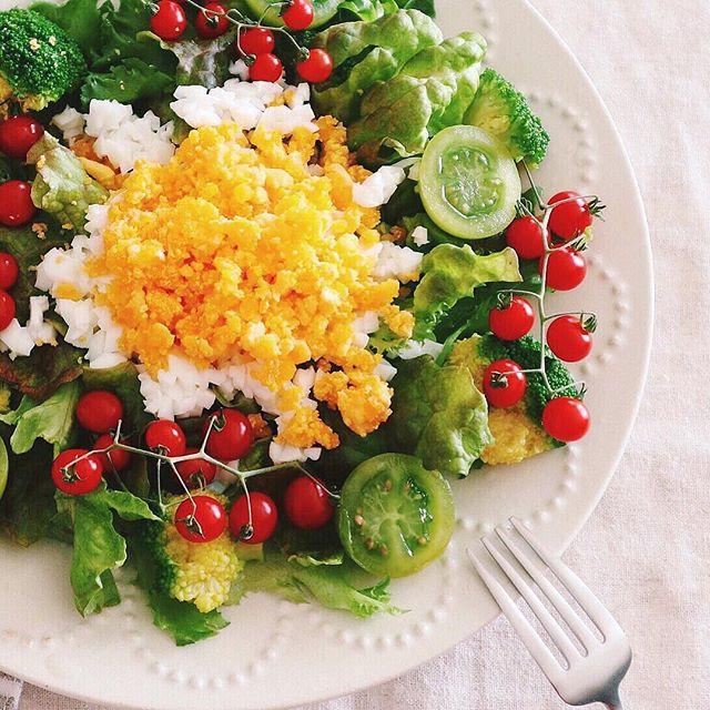卵黄が綺麗なミモザサラダ