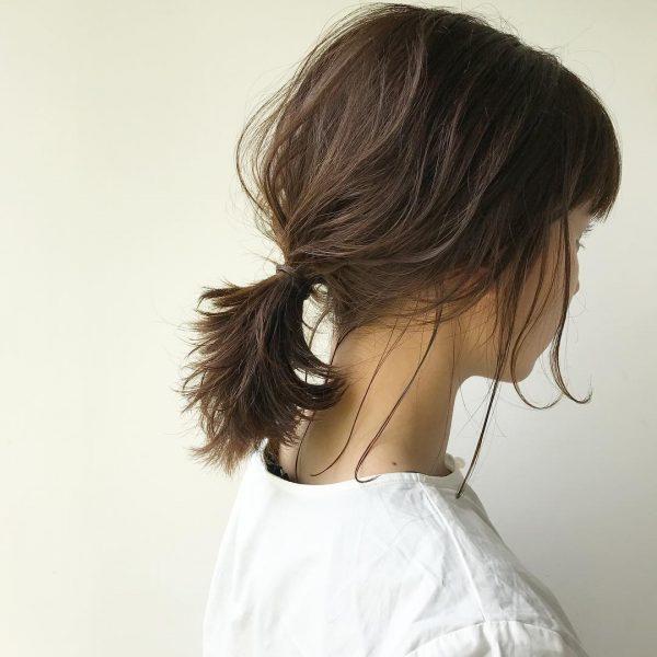 基本的な後れ毛の出し方