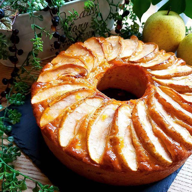 簡単朝ごはん!りんごの時短ケーキ