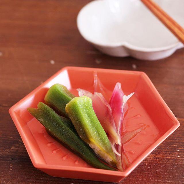 和食の前菜に!みょうがとオクラの甘酢漬け
