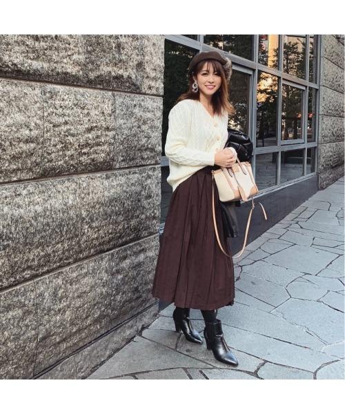 ファーベレー帽×フレアスカート